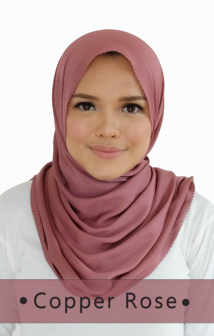 ALMA SHAWL Copper Rose