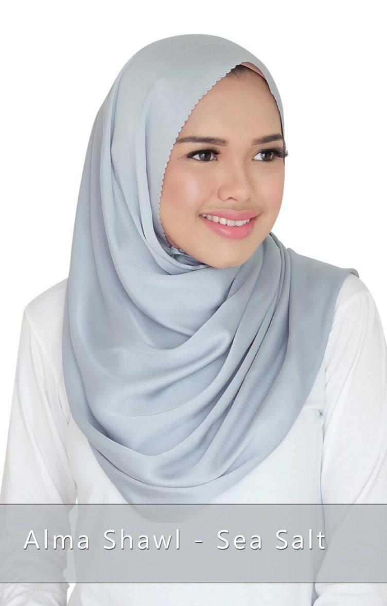 Alma shawl - sea salt
