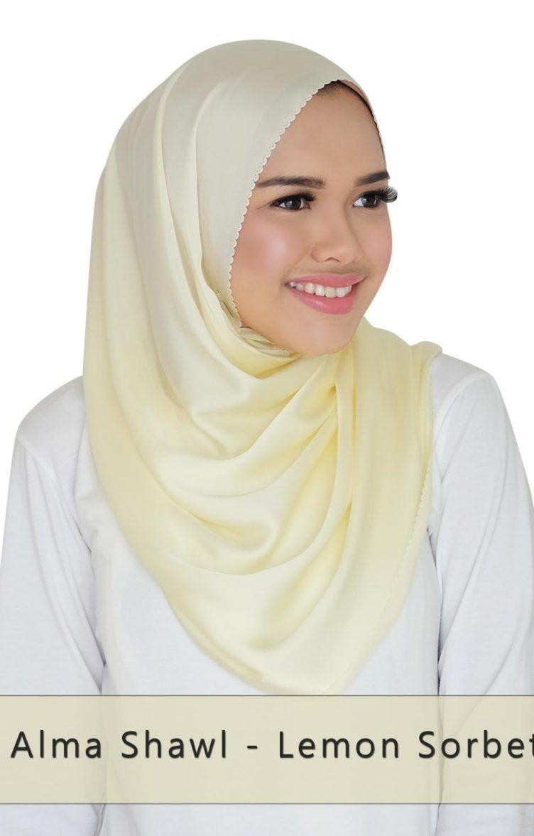 alma shawl - Lemon Sorbet
