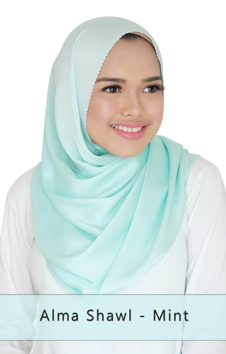 alma shawl - mint