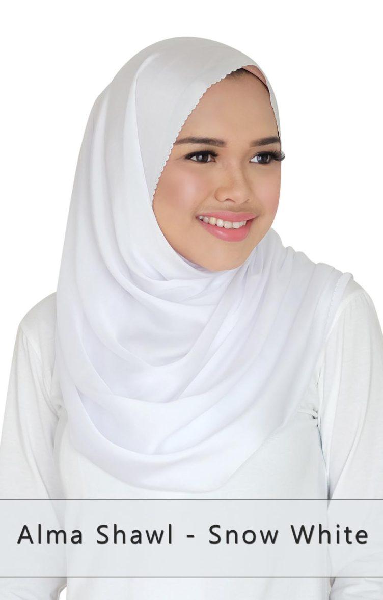 alma shawl - snow white