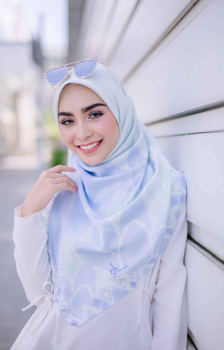 schnell hijab pastel blue