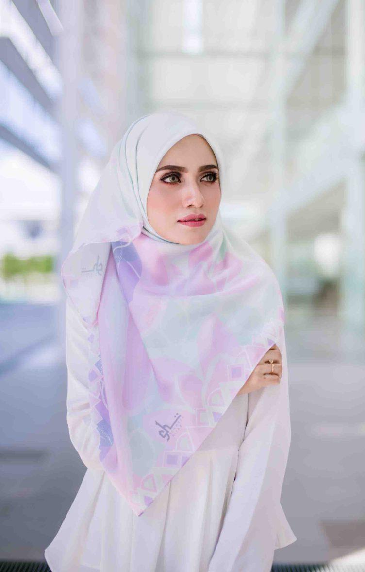 schnell hijab pastel pink