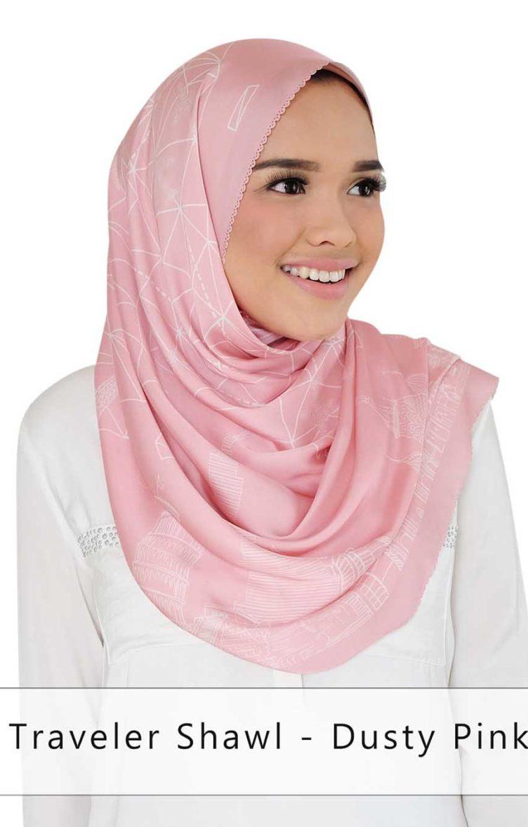 traveler shawl - dusty pink