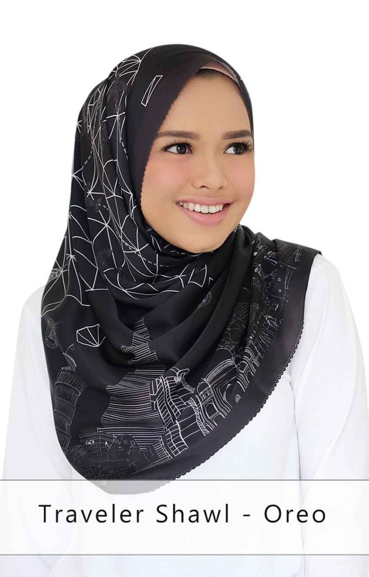 traveler shawl - oreo