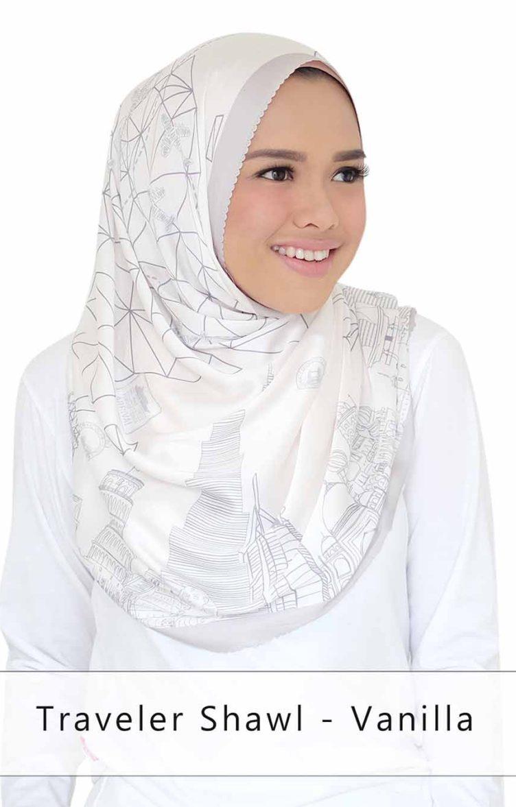 traveler shawl - vanilla
