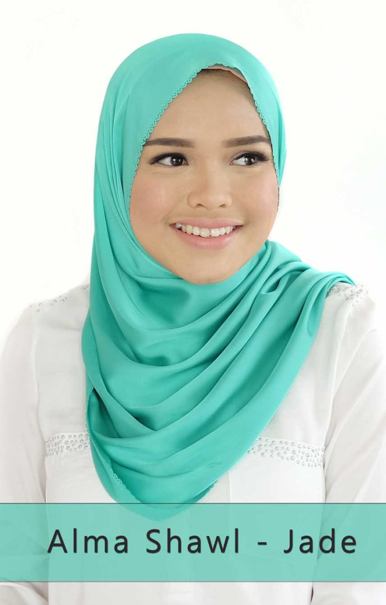 ALMA shawl - jade